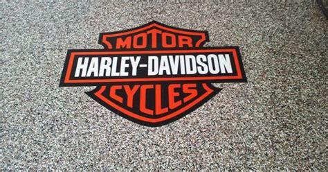 Garage Floor Coating Knoxville Tn Harley Davidson Garage Epoxy Coating W Logo Knoxville