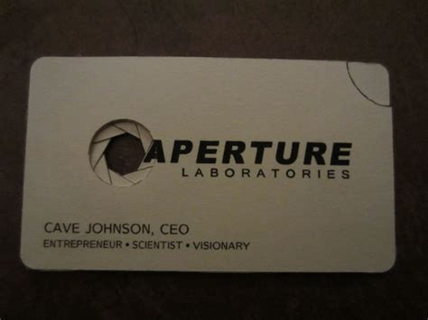 aperture science id card template aperture science business card 4