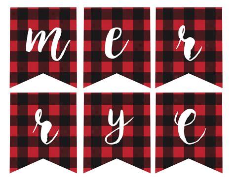 printable christmas banner free printable merry christmas banner paper trail design