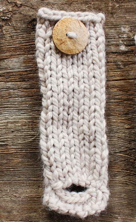 knit buttonhole arm knit scarf with button cuff brown coconut button