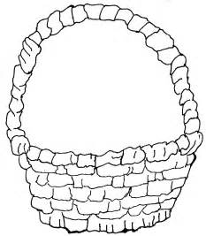 Basket Coloring Page sketch template
