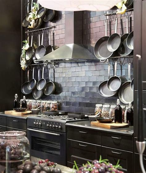 Kitchen Wall Mounted Racks by Pot Racks Panda S House