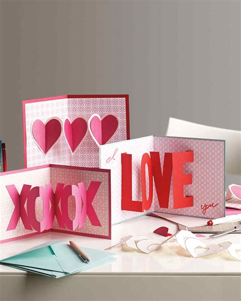 how to make a valentines day card 3 d s day cards martha stewart