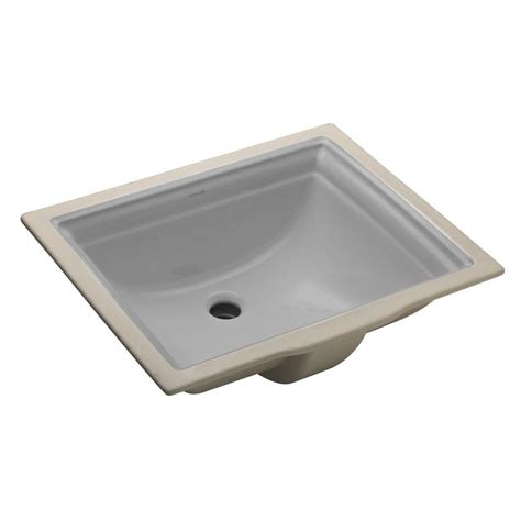 grey kitchen sink kohler verticyl vitreous china undermount bathroom sink with overflow drain in thunder grey with