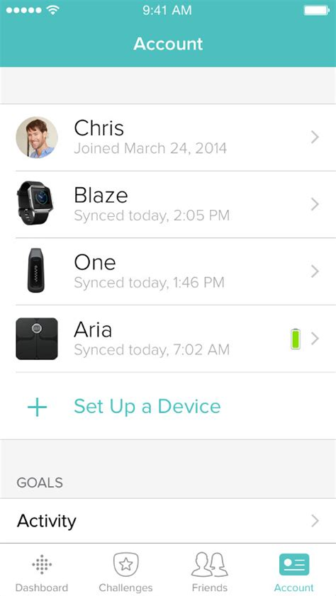 how to sync fitbit to android fitbit app dashboard