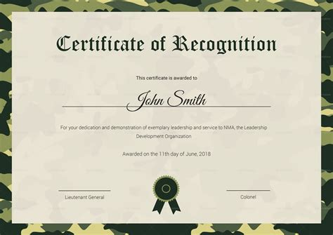 air certificate of appreciation template air cadet recognition certificate design template in psd word