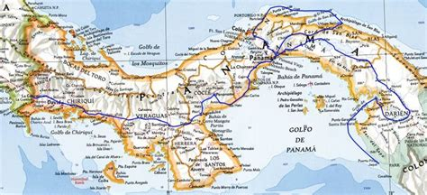 central us road map detailed map panama large detailed road map panama