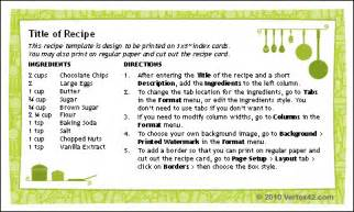 free recipe template for word free printable recipe card template for word