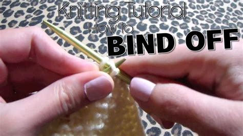 how do you bind in knitting how to knit bind cast