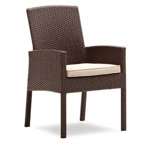Wicker Patio Dining Chairs Strathwood Griffen All Weather Wicker Dining Arm Chair Brown Set Of 2