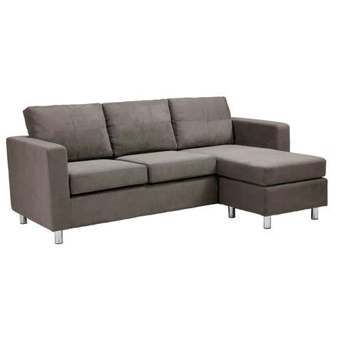 Grey Microfiber Sectional Dorel Asia Microfiber Sectional Sofa Grey Ebay