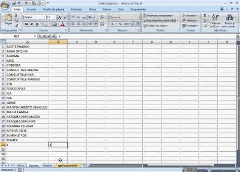 formato de excel para calculo de declaraciones mensuales 2016 control de gastos planilla de excel con base de datos