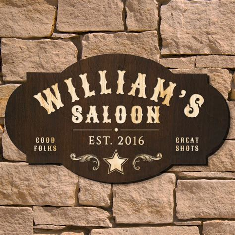 Saloon Signs Images west saloon custom bar sign signature series