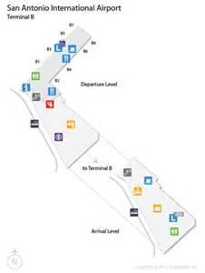 Tx Airport Code Sat San Antonio International Airport Terminal Map