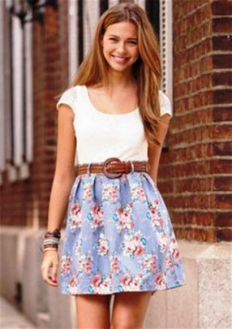 cute floral skirt outfits for teens 17 cute summer dresses for teens getfashionideas com