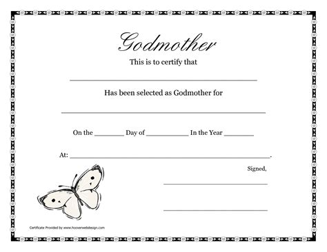 certificate templates for pages free printable godparent certificates printable