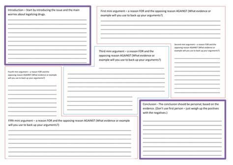 newspaper layout lesson plan balanced argument planning template connectives by