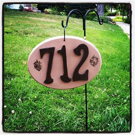 house number sign for l post decorative house number signs design ideas