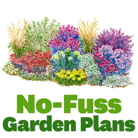 Flower Garden Designs And Layouts No Fuss Garden Plans Beautiful Flower And Mow The Lawn