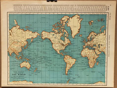 vintage map vintage map world globe earth original 1935 by pastonpaper on etsy