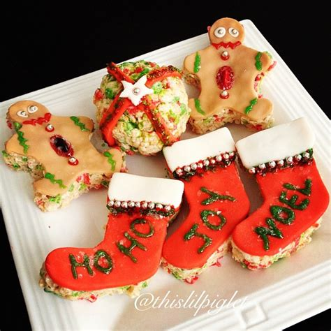 rice krispie treats ideas christmas with kelloggers this lil piglet
