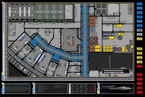 star trek enterprise floor plans enterprise nx 01 command center deck d star trek