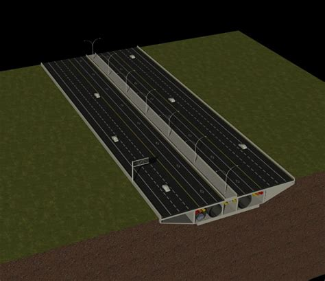 3d cross sections 3d model highway cross section