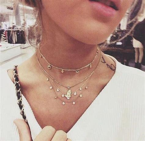 Choker Penta Gold Rings Choker diy simple choker necklace 90s inspired picmia