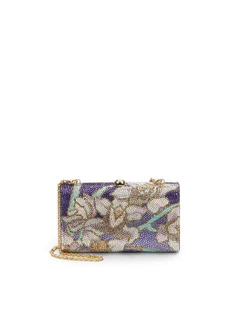 Judith Leibers Wavy Curve Clutch judith leiber new wavy curve floral mosaic clutch