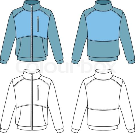 sports jacket template outline sports jacket vector illustration isolated on
