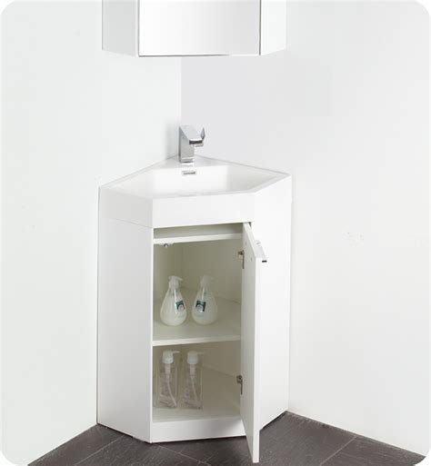 White Corner Bathroom Vanity 18 Fresca Coda Fvn5084wh White Modern Corner Bathroom Vanity W Optional Medicine Cabinet