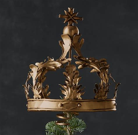 osh hardware christmas tree toppees crown tree topper brass 49 restoration hardware crowned trees hardware and