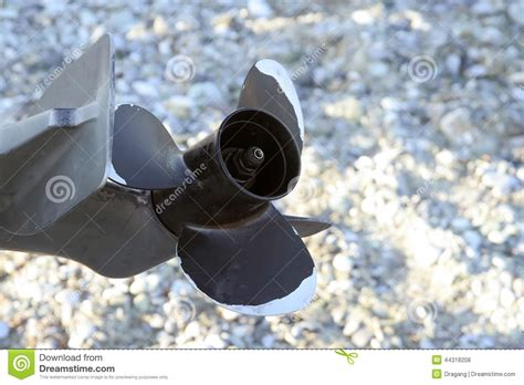 fishing boat engine propeller propeller stock photo image 44318208