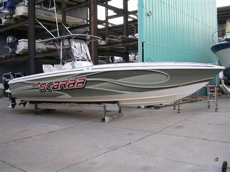 scarab boat graphics now that s a wrap image gallery boat wraps