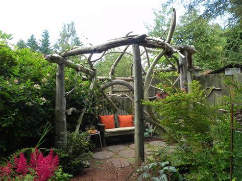 Rustic wood pergola   Sublime Garden Design   Landscape