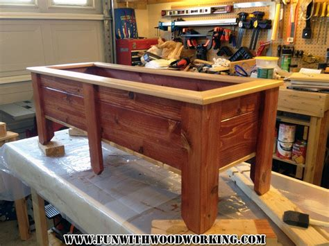 Ana White Kitchen Cabinets by Project Planter Box Made From Cedar Fence Pickets Youtube