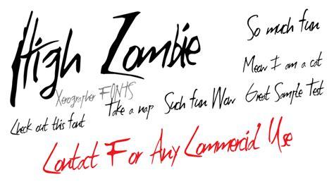 dafont zombified high zombie schriftart dafont com