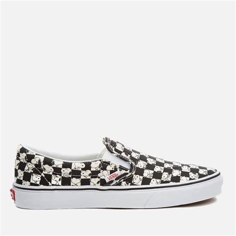 Vans X Peanuts Snoopy Checkerboard Slip On vans x peanuts s classic slip on trainers snoopy checkerboard free uk delivery allsole