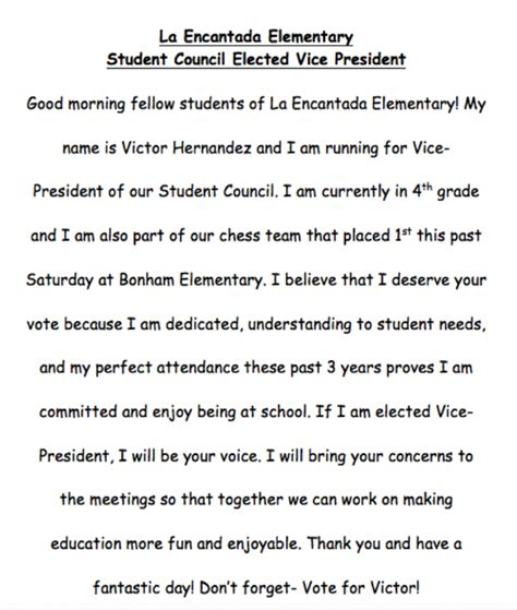 Speech Template For Students by Template Student Council Speech Exles