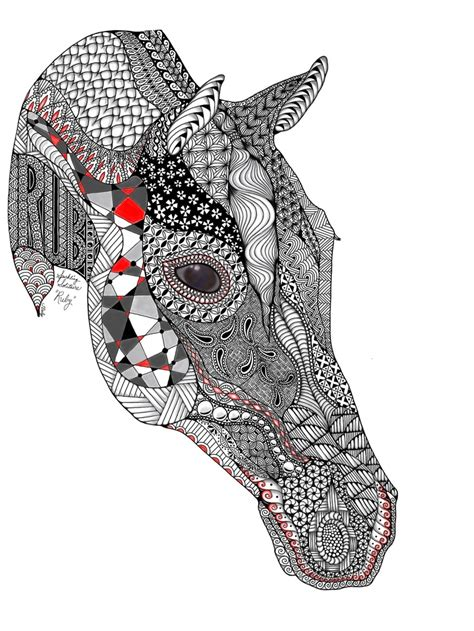 zentangle pattern horse 144 best images about zentangled animals horse on