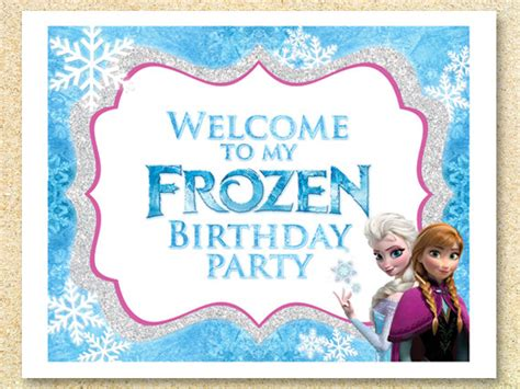 Frozen Printable Welcome | items similar to frozen printable welcome party sign