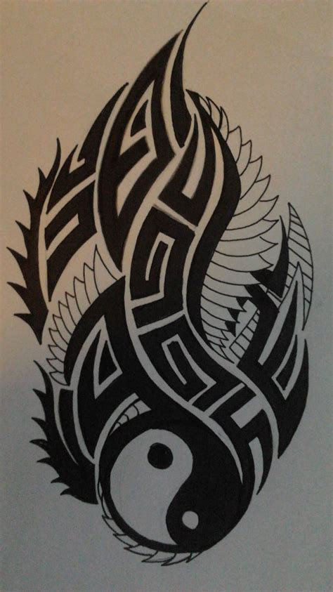 tribal yin yang by angrydevildog on deviantart