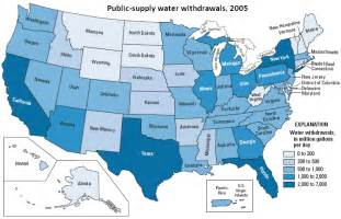 waters of the us map california supply water use the usgs water science school
