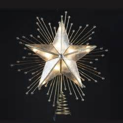 10 lighted capiz star with beaded sunbursts christmas tree