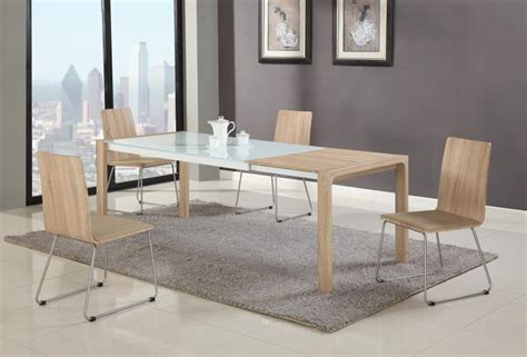 modern glass top dining table sets extendable in wood glass top modern dining table sets