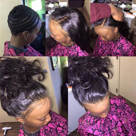 picture of hair sew ins full head sew in no leave out not even baby hair no