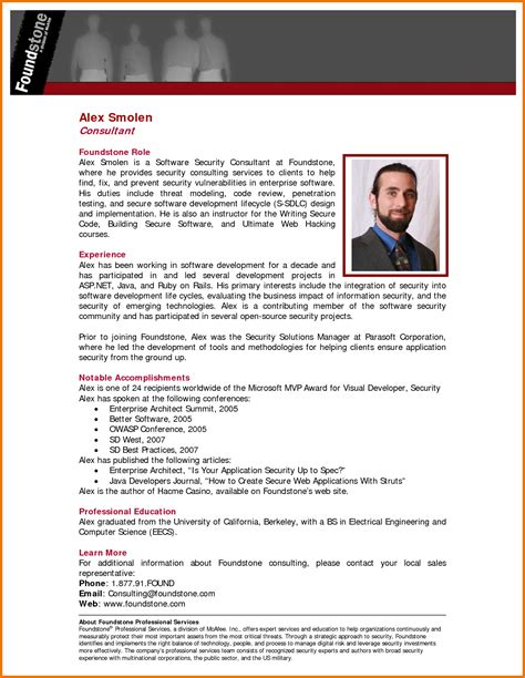 biography templates for students professional bio template cyberuse