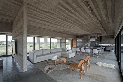 Unfinished Concrete Floor by Concrete House A Nest For Tough Guys Designed By Luciano