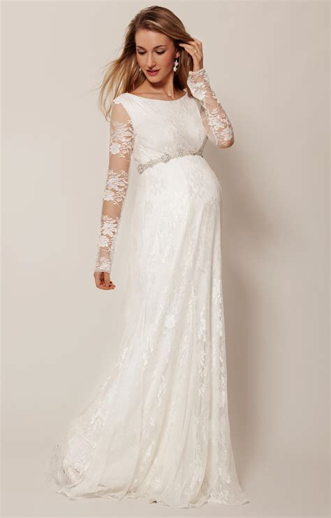 helena maternity wedding gown long ivory maternity