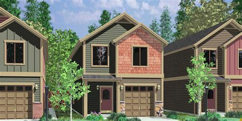 Multi Family Apartment Plans Narrow Lot Duplex House Plans Narrow And Zero Lot Line